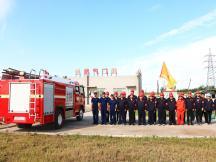 四平公司联合消防官兵举行消防演练